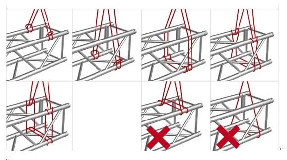 影剧院体育馆专用铝制舞台truss灯光吊架正确安装说明