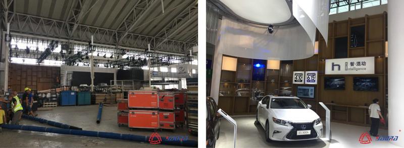 工业汽车展览灯光架