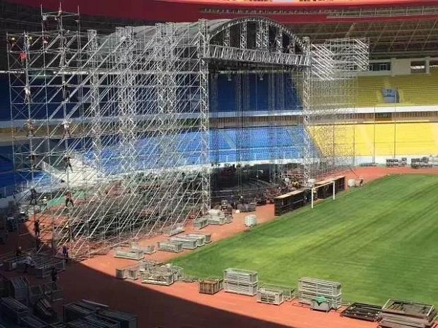 周杰伦大型巡回演唱会舞台桁架