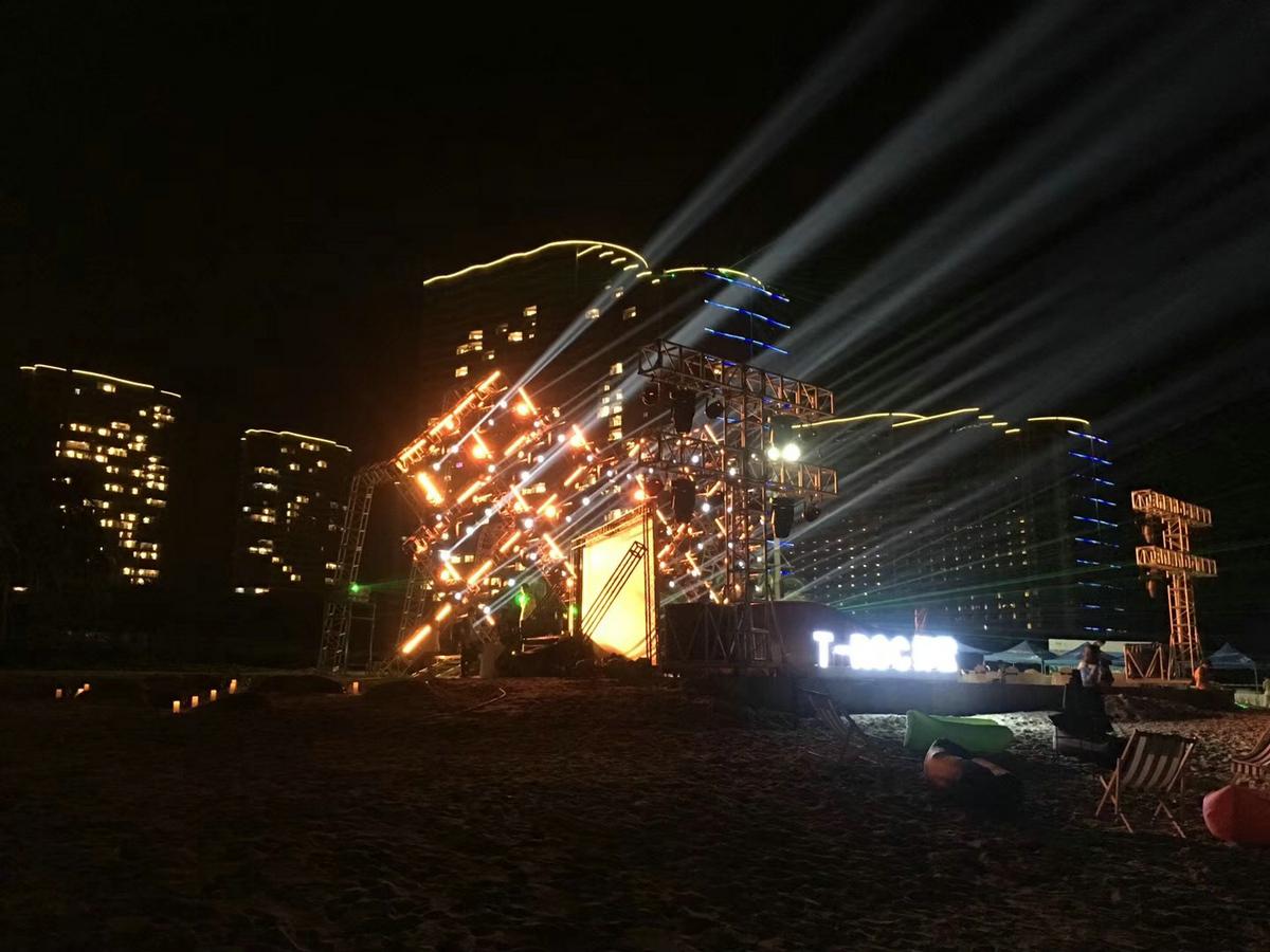 开渔节舞台灯光演出