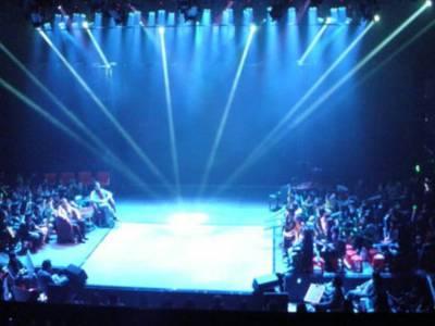 舞台桁架快速安装一个舞台