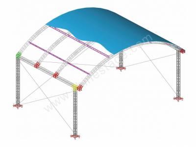 如何搭建舞台桁架灯光音响工程?