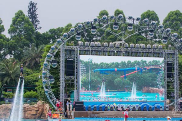 长隆国际水上乐园星光夜场舞台桁架