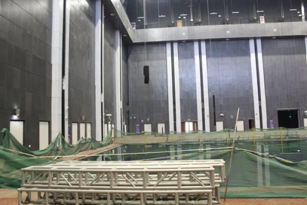 浙江万达广场水下舞台桁架